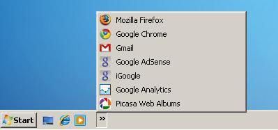 Windows Quick Launch bar